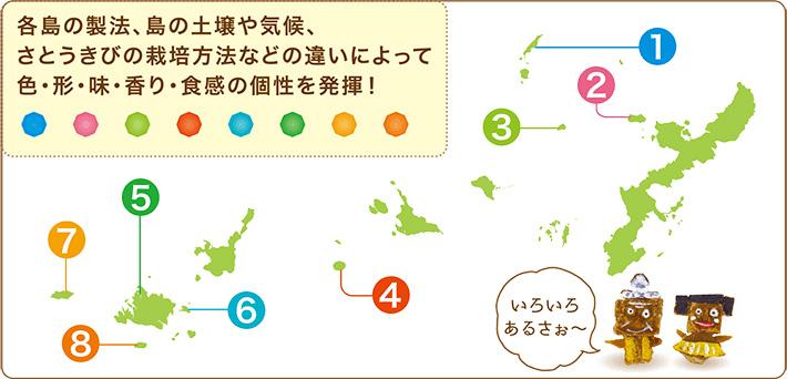 8島の地図