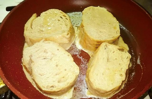 フランスパンを入れて1~2分